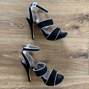 👠 Marc Fisher Black & White Heels 👠